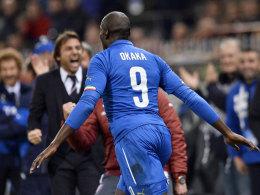 Bescherte Italien wichtige Zähler: Angreifer Stefano Okaka, der gegen Albanien den 1:0-Siegtreffer erzielte.