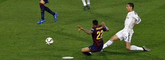 Besorgte den Ausgleich per Grätsche: Real-Star Cristiano Ronaldo (re.).