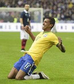 Sorgte f�r die Entscheidung zugunsten von Brasilien: Luiz Gustavo.