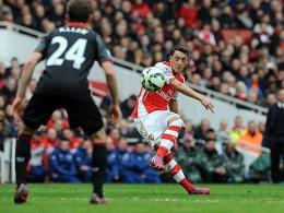 Auch sein Freistoßtreffer hielt die Gunners-Serie am Leben: Mesut Özil.