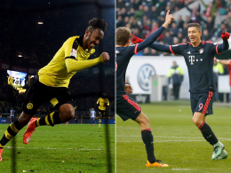 Aubameyang und Lewandowski (re.)