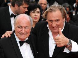 Sepp Blatter und Gerard Depardieu