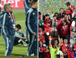 Wieder kein Triumph mit Argentinien f�r Lionel Messi - Chile feierte derweil den ersten Titel euphorisch.