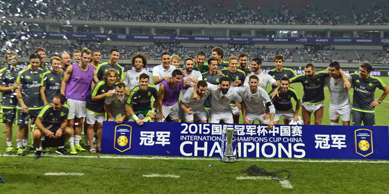 Real Madrid gewinnt den Champions Cup 2015 in China.