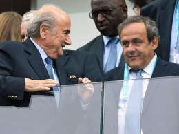 Sepp Blatter (li.) und Michel Platini