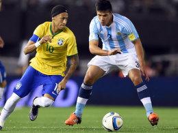 Kein Sieger zwischen Brasilien und Argentinien