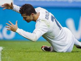 Ein typisches Bild in Eibar: Nach einer vergebenen Chance hadert Cristiano Ronaldo mit sich selbst.