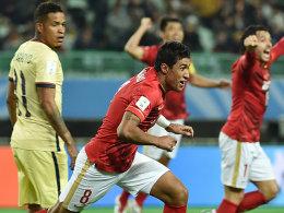 90.+4! Paulinho schie�t Guangzhou weiter
