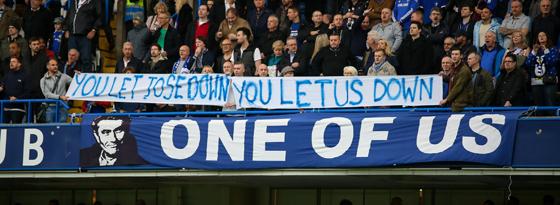 Solidarisierten sich mit José Mourinho: Chelseas Fans