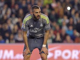 Banger Blick: Bei Real Betis lief es für Karim Benzema und Real Madrid nicht nach Wunsch.