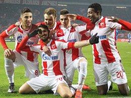 Er hat das Belgrader Derby entschieden: Hugo Vieira (2.v.li.).