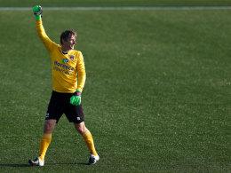 Edwin van der Sar am Samstag bei seinem Comeback für ein Spiel