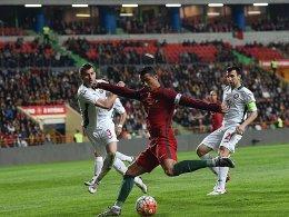Gegen Bulgarien abschlussschwach: Cristiano Ronaldo (Mi.).