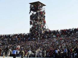 Stadion völlig überfüllt: Nigeria entgeht Katastrophe