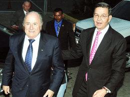 Rafael Leonardo Callejas und Sepp Blatter