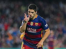 Acht Tore! Luis Suarez schie�t sich an die Spitze