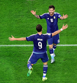 Ist bei der Copa America Centenario nicht zu stoppen: Lionel Messi (#10) hat einen wahnsinnigen Torschnitt.