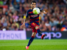 Dani Alves in Aktion