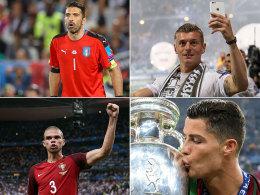 Buffon, Kroos, Pepe und Cristiano Ronaldo