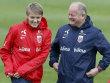 Martin �degaard und Trainer Per-Mathias H�gmo (v.li.)