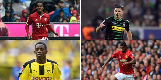 Wer war 2016 der beste Nachwuchsspieler in Europa? Auch dieses Quartett ist nominiert.