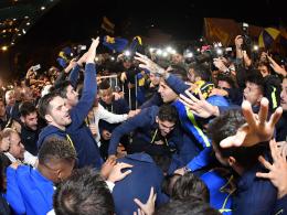 Auf dem Sofa zum Titel: Boca Juniors sind Meister