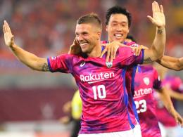 Doppelpack zum Debüt! Podolski siegt mit Kobe