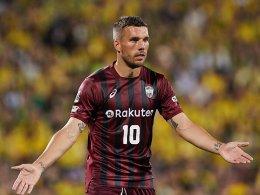 Podolski fliegt aus dem Ligapokal raus