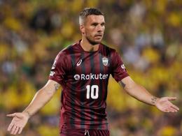 Podolski wieder dabei, doch Vissel Kobe verliert