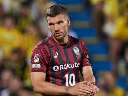 Mehr Verantwortung: Podolski wird Kapitän in Kobe