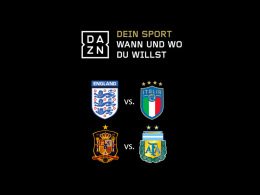 Live am Dienstag: Italien in Wembley - Spanien gegen Messi & Co.