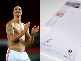 Per Zeitungsanzeige: Ibrahimovic bestätigt Galaxy-Wechsel