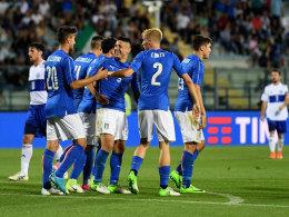 Italien schießt sich gegen San Marino warm