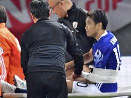 Die Schulter: Kagawa muss früh verletzt raus