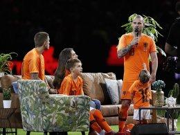 Später Elftal-Sieg bei Sneijders Abschied