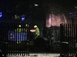 Hubschrauberabsturz am Leicester-Stadion