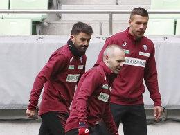 Trotz V.I.P.-Power: Podolski tritt auf die Bremse