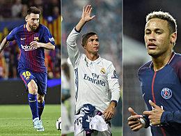 3 aus 24: Nur Ronaldo, Messi und Neymar sind übrig