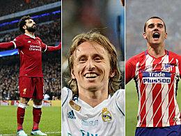 Europas Fußballer des Jahres 2018: Wer wo landete