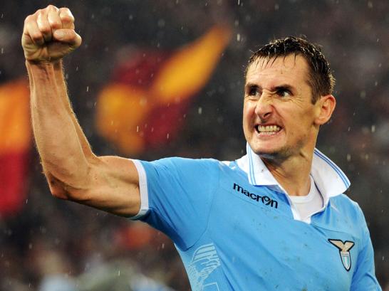 Internationale Klasse: St�rmer: 1. Miroslav Klose (Lazio Rom/ Italien)