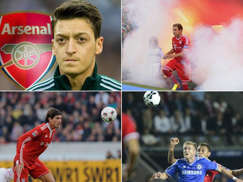 Özil, Götze, Gomez, Schürrle