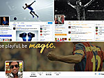 Screenshots der Twitter-Channels von Cristiano Ronaldo, LeBron James und Ronaldinho