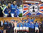 So feiern die Glasgow Rangers den Aufstieg