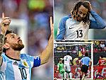 Messi (l.), Jones (oben r.) und Aranguiz' Tor