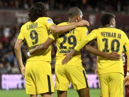 Mbappé, Neymar, Cavani: Die PSG-Offensive wirbelt