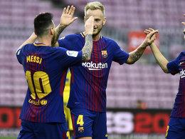 Doppelter Messi: Barça jubelt im Geisterspiel