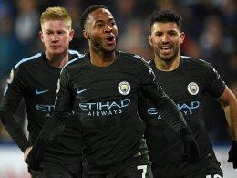 Glücklich, aber verdient: Sterling erlöst City