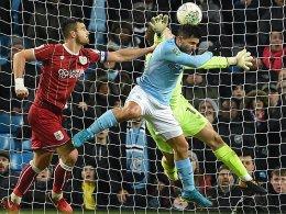 Last-Minute Sieg: Aguero schockt Bristol City