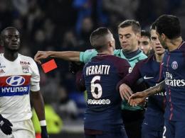 90.+4! Lyon schlägt dezimiertes PSG nach Alves-Meckerei