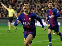 Coutinhos Premieren-Tor bringt Barça auf Finalkurs